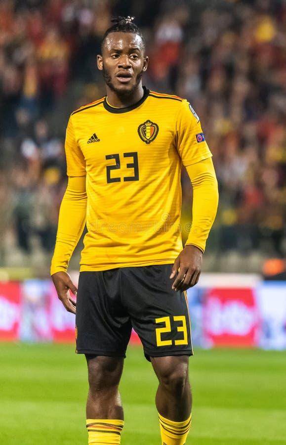 Van het de voetbalteam van België de nationale striker Michy Batshuayi royalty-vrije stock afbeeldingen