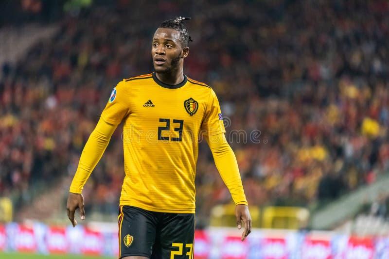 Van het de voetbalteam van België de nationale striker Michy Batshuayi royalty-vrije stock fotografie
