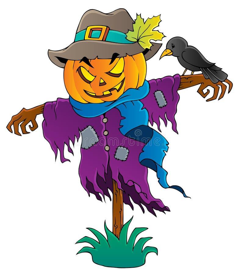 Van het de vogelverschrikkerthema van Halloween beeld 1 vector illustratie