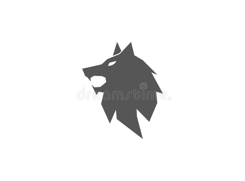 Van het de vosgezicht van de wolfs hoofd open mond de illustratieontwerp stock illustratie
