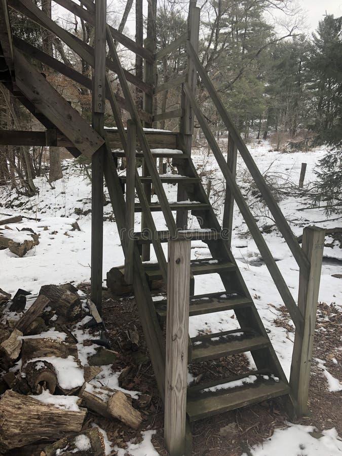 Van het de Winterlandbouwbedrijf van Pennsylvania het Kamp het Openluchtavontuur Kamperen royalty-vrije stock afbeelding