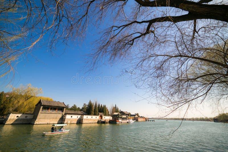 Van het de Zomerpaleis van Peking de Lentelandschap royalty-vrije stock foto's