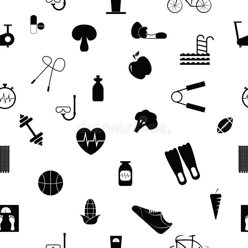 Van het dieet naadloos patroon pictogram als achtergrond royalty-vrije illustratie