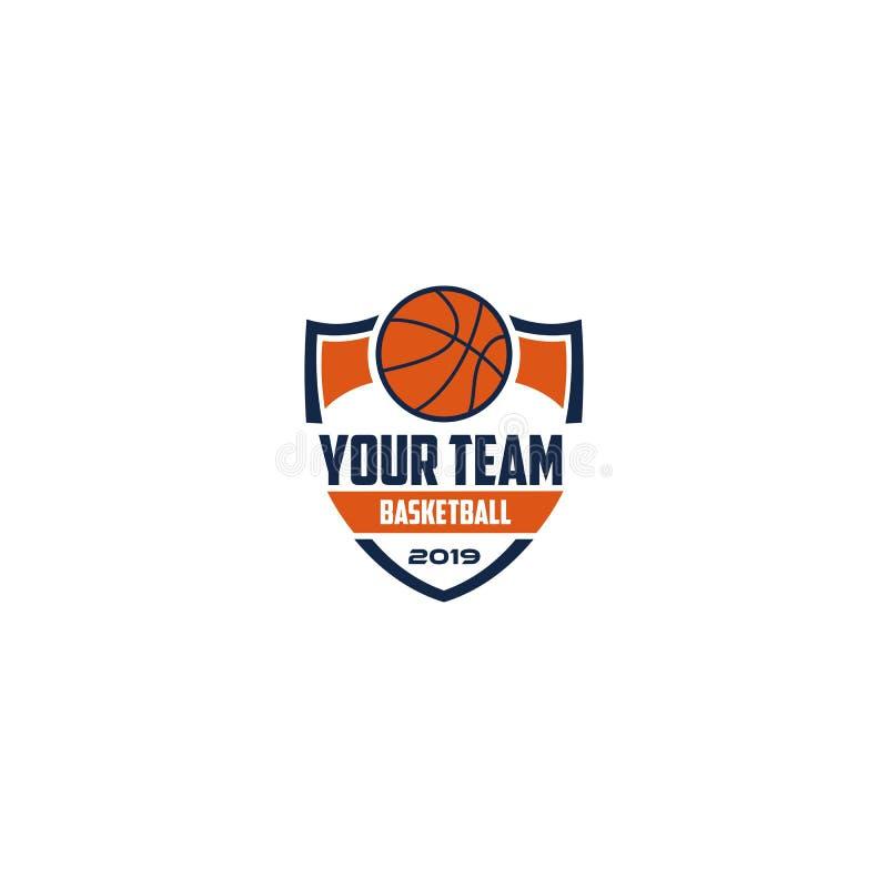 Van het het Embleemkenteken van de basketbalclub het Embleemontwerp vector illustratie