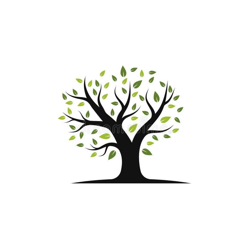 Van het het embleemmalplaatje van het boompictogram de vectorillustratie royalty-vrije illustratie