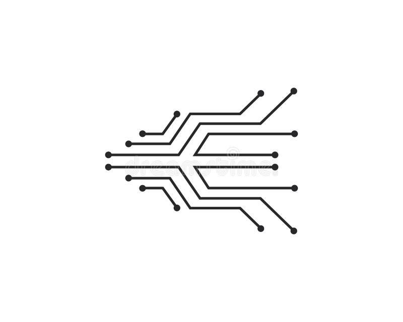 van het het embleemmalplaatje van de kringstechnologie vector het pictogramillustratie royalty-vrije illustratie