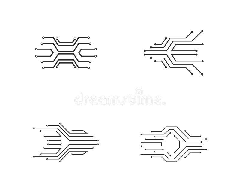 van het het embleemmalplaatje van de kringstechnologie vector het pictogramillustratie stock illustratie