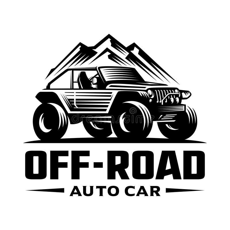 Van het embleemmalplaatje van de wegauto royalty-vrije illustratie