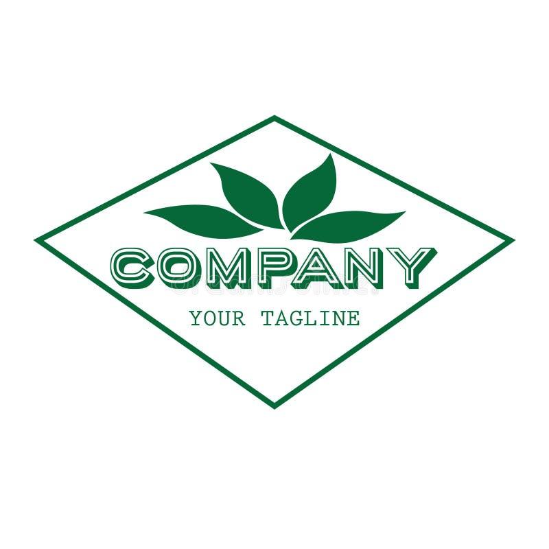 Van het het embleemontwerp van het aardpictogram de groene kleur voor bedrijf stock illustratie