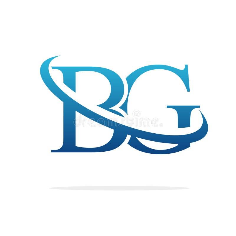 Van het het embleemontwerp van BG het Creatieve vectorart. royalty-vrije illustratie