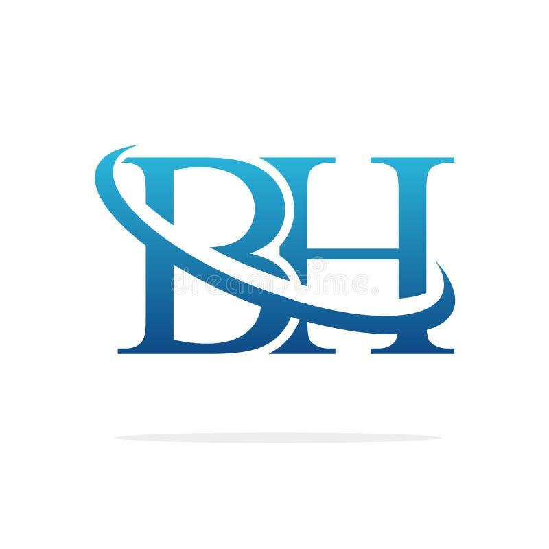Van het het embleemontwerp van BH het Creatieve vectorart. vector illustratie