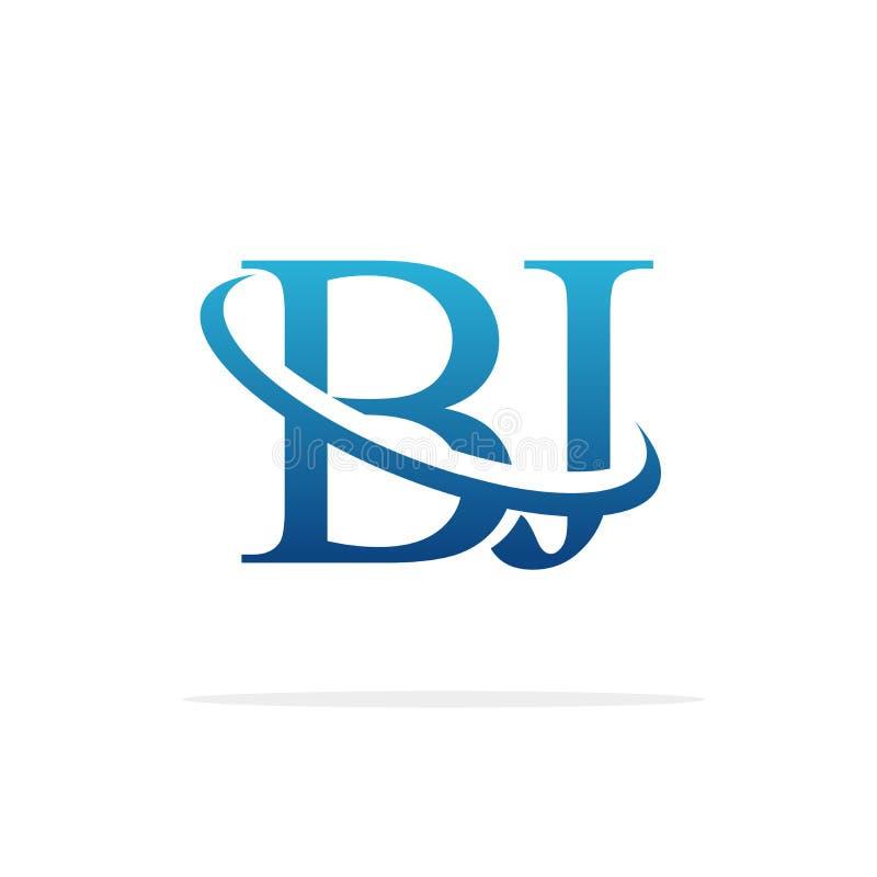 Van het het embleemontwerp van BJ het Creatieve vectorart. stock illustratie