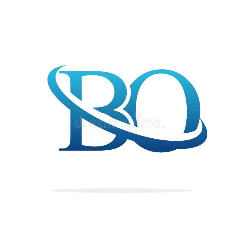 Van het het embleemontwerp van BO het Creatieve vectorart. vector illustratie