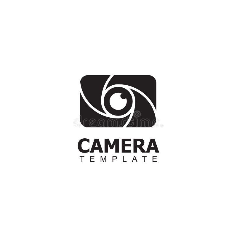 Van het het embleemontwerp van het camerapictogram het vectormalplaatje in eenvoudige en unieke stijl royalty-vrije illustratie