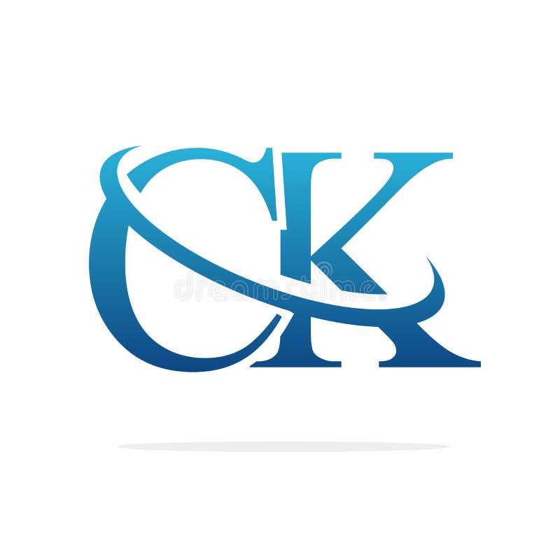 Van het het embleemontwerp van CK het Creatieve vectorart. vector illustratie