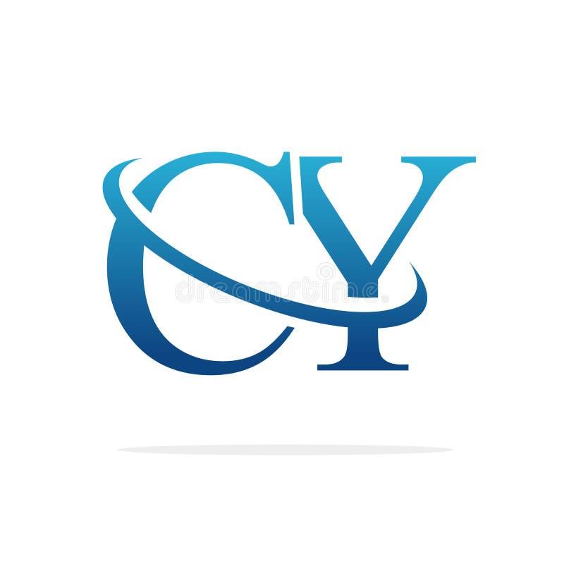 Van het het embleemontwerp van CY het Creatieve vectorart. royalty-vrije illustratie