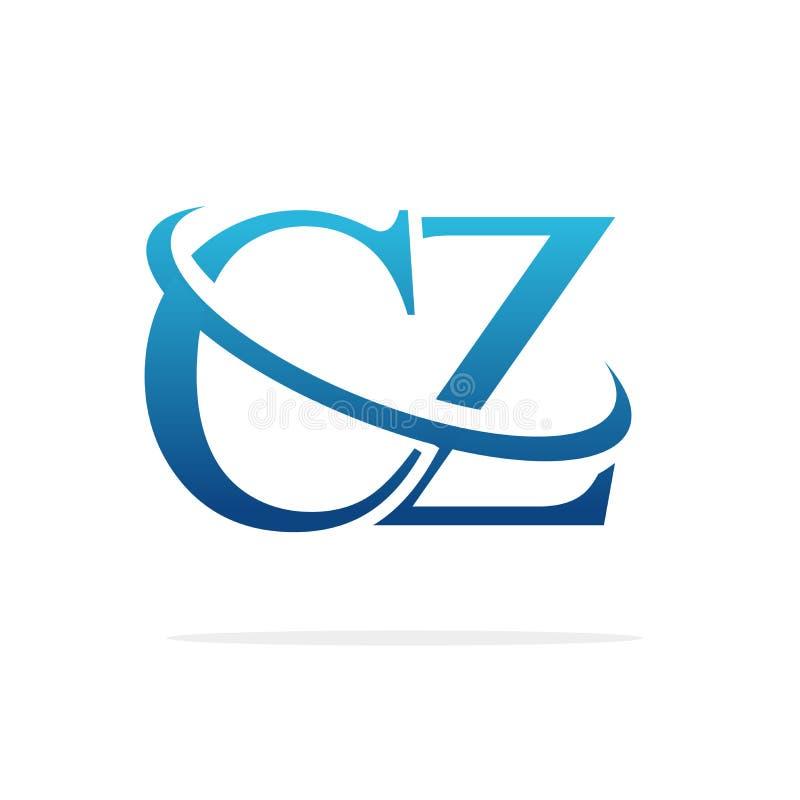 Van het het embleemontwerp van CZ het Creatieve vectorart. royalty-vrije stock afbeeldingen