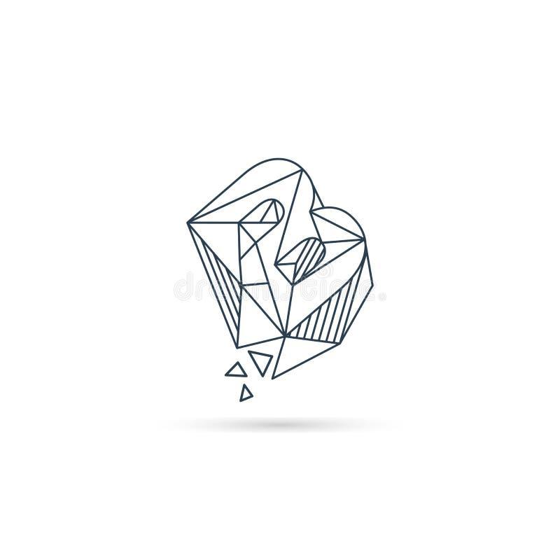van het het embleemontwerp van de halfedelsteenbrief B van het het pictogrammalplaatje het vector geïsoleerde element vector illustratie