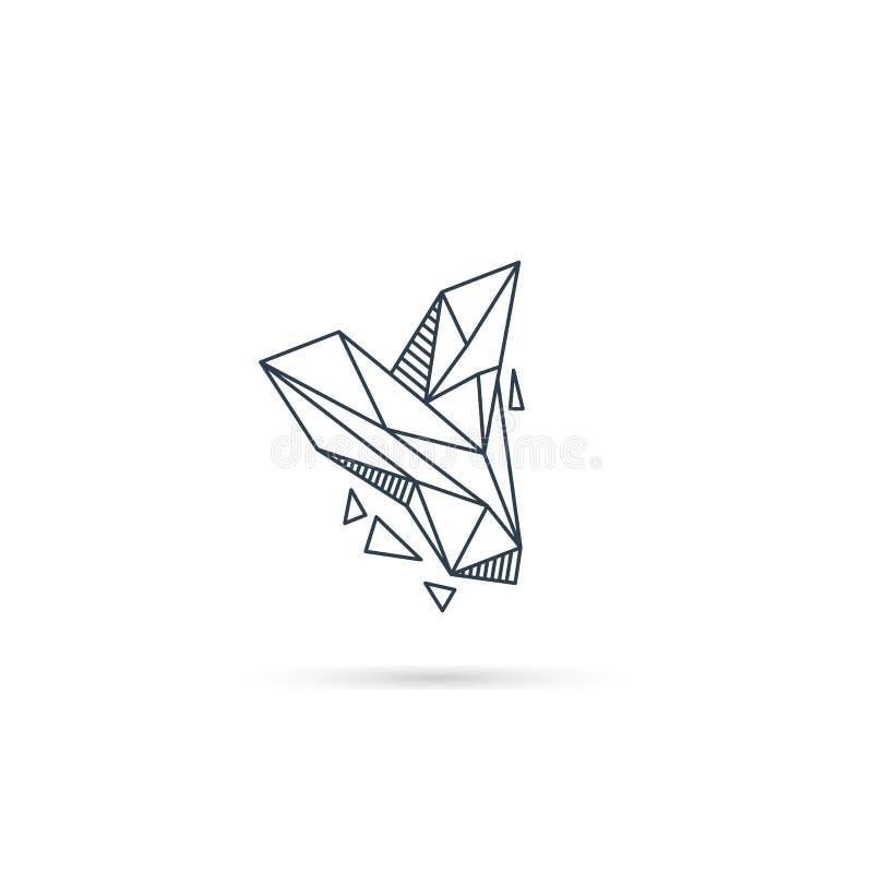 van het het embleemontwerp van de halfedelsteenbrief y van het het pictogrammalplaatje het vector geïsoleerde element stock illustratie