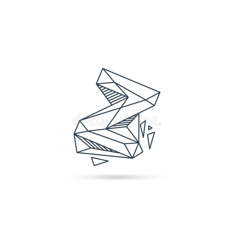 van het het embleemontwerp van de halfedelsteenbrief z van het het pictogrammalplaatje het vector geïsoleerde element vector illustratie