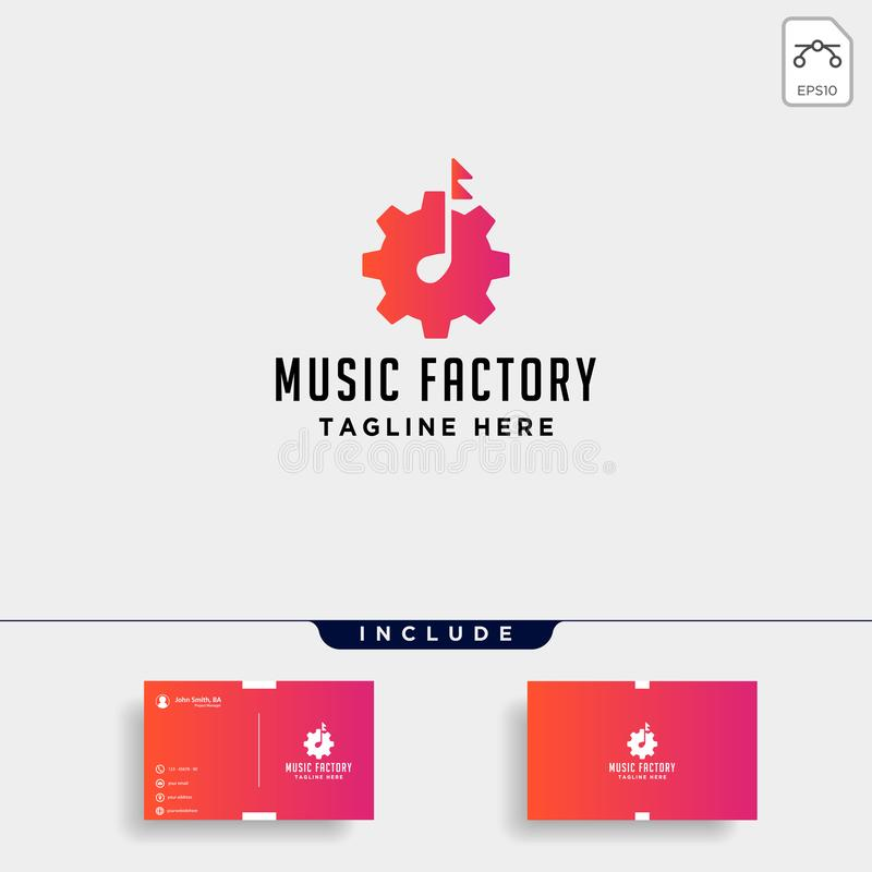 van het het embleemontwerp van het muziektoestel van de de studiohoofdtelefoon pictogram van de microfoon cassete het vectormonol royalty-vrije illustratie