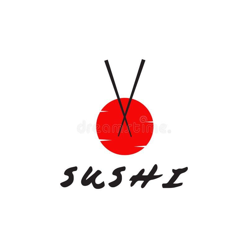 Van het het embleemontwerp van het sushirestaurant het vectormalplaatje stock illustratie