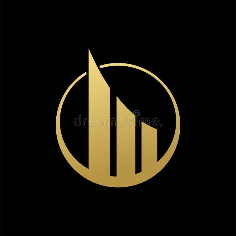 van het het embleemteken van het bezits collectieve pictogram abstracte het ontwerp gouden kleur op zwarte achtergrond vector illustratie