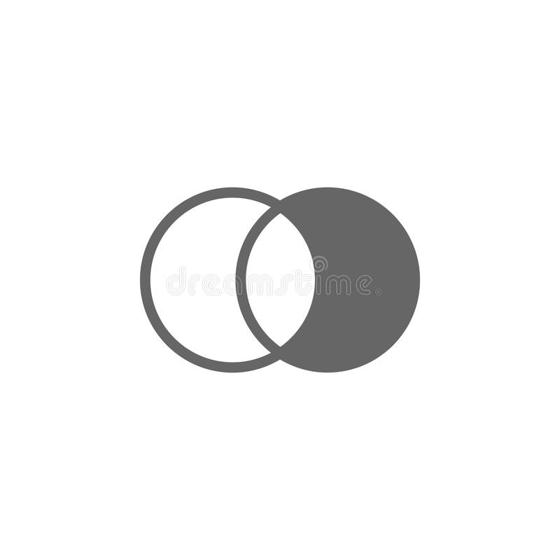 Van het fotohelderheid en contrast montagespictogram Eenvoudige elementenillustratie Symboolontwerp van de inzameling van de Foto stock illustratie