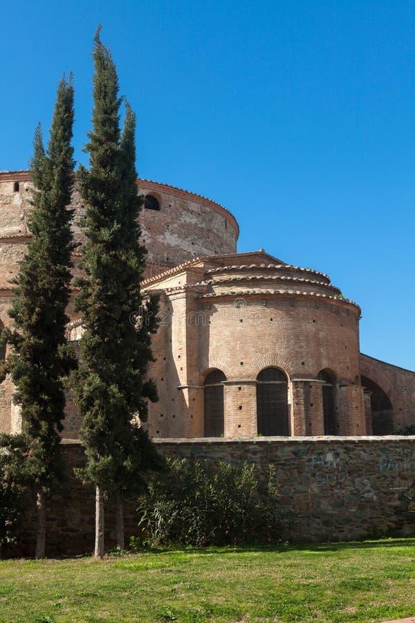 Van het Galeriuspaleis (Rotonda) de tempel in Thessaloniki, Griekenland stock afbeeldingen