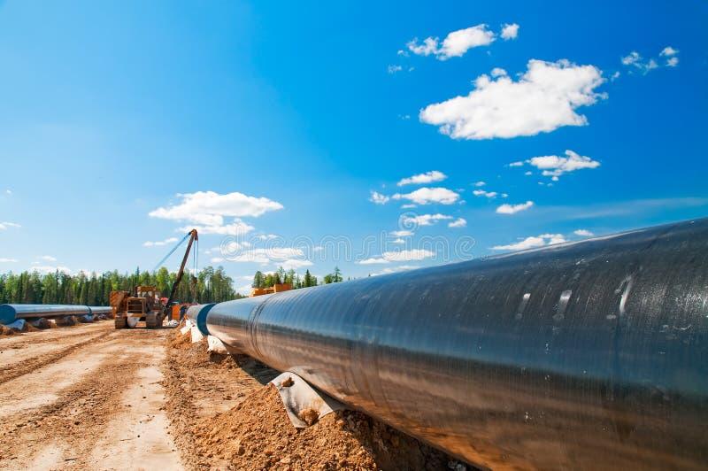 Van het gas (olie) de pijpleidingsbouw royalty-vrije stock foto's