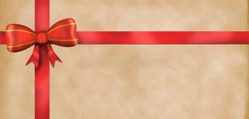 Van het giftcertificaat (Bon, coupon) het malplaatje royalty-vrije illustratie