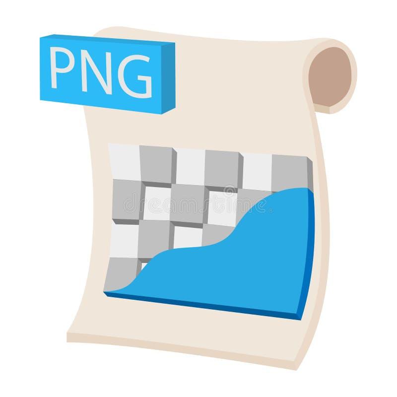 Van het het beelddossier van PNG de uitbreidingspictogram, beeldverhaalstijl royalty-vrije illustratie