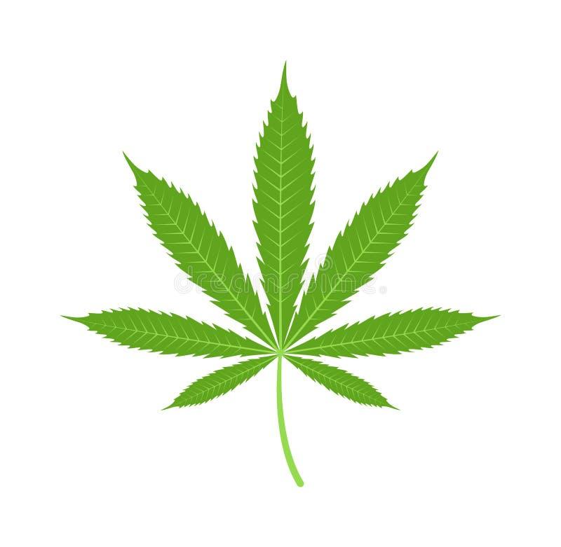 Van het het bladpictogram van de cannabismarihuana de vectorillustratie vector illustratie
