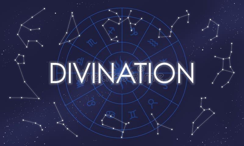 Van het het Geloofsfortuin van het waarzegging Goddelijk Geloof Heilig de Mysticusconcept vector illustratie