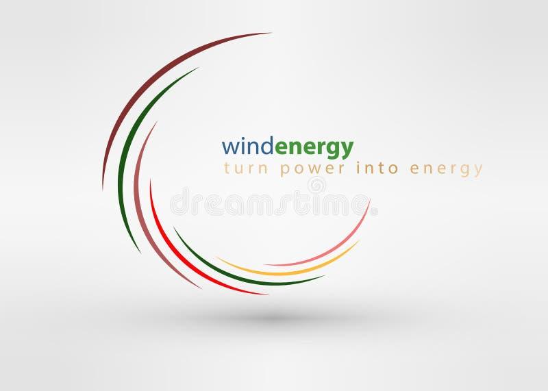 Van het het ontwerpmalplaatje van het windmolen creatief kleurrijk abstract embleem van de van de de bedrijfs cirkeldraaikolk van stock illustratie