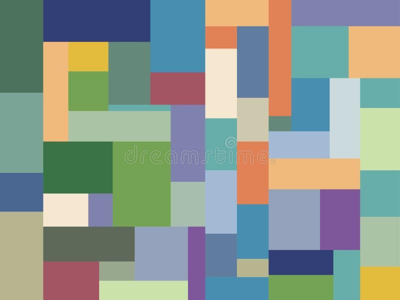 Van het het ontwerppatroon van het kleurenblok multicolored minimalistisch vector illustratie