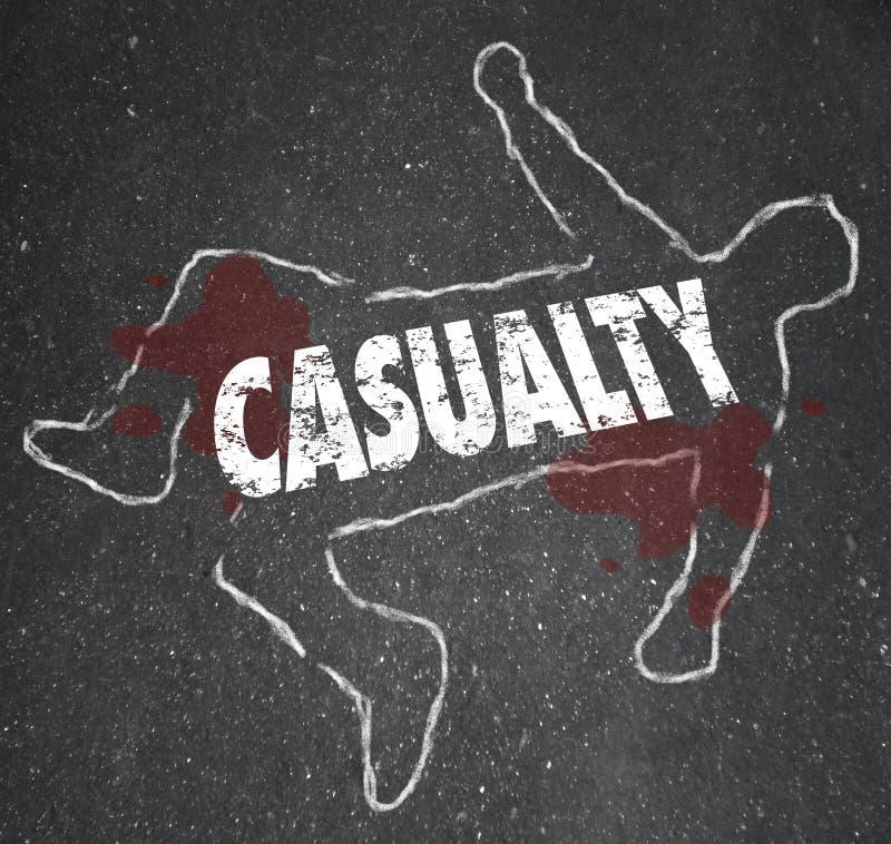 Van het het Overzichts Lijk van het slachtofferkrijt Gekwetst de Verwondingsongeval vector illustratie