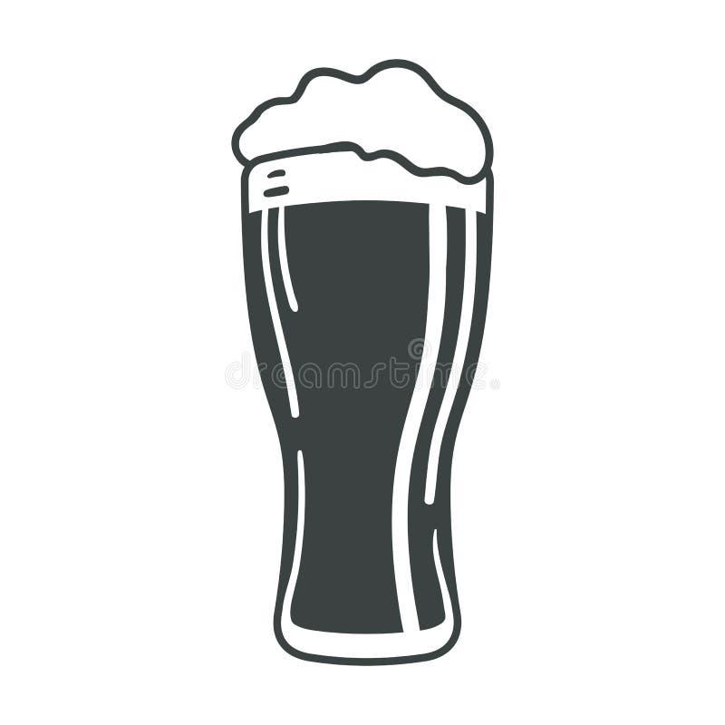 Van het het pictogramweb van het bierglas van het het tekensymbool het embleemetiket stock illustratie