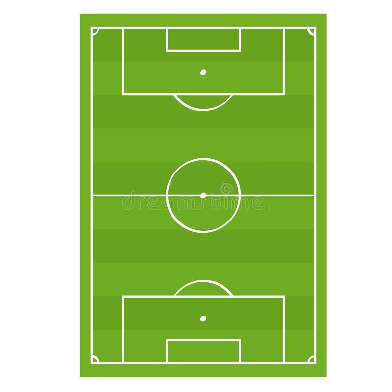 Van het het Spelgebied van de voetbalvoetbal de Hoogste Mening Vector royalty-vrije illustratie