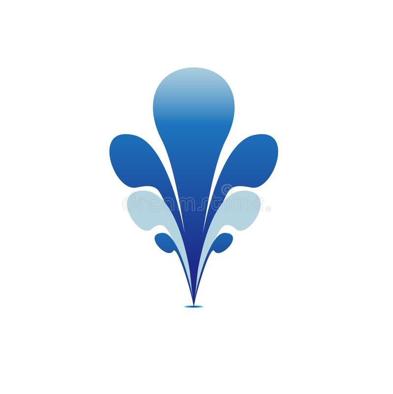 Van het het symboolpictogram van het fonteinwater blauw het tekenelement royalty-vrije illustratie