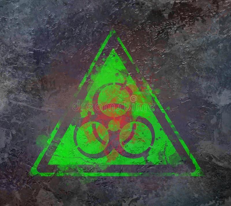 Van het het symboolteken van Biohazard biologisch de bedreigingsalarm vector illustratie