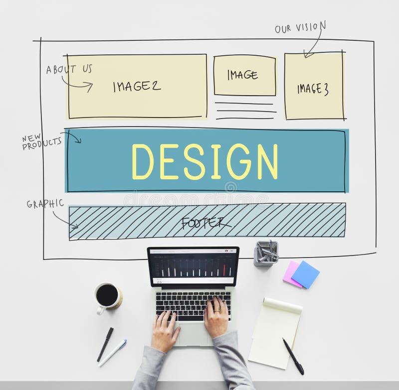 Van het het Webontwerp van ontwerphtml het Malplaatjeconcept stock foto