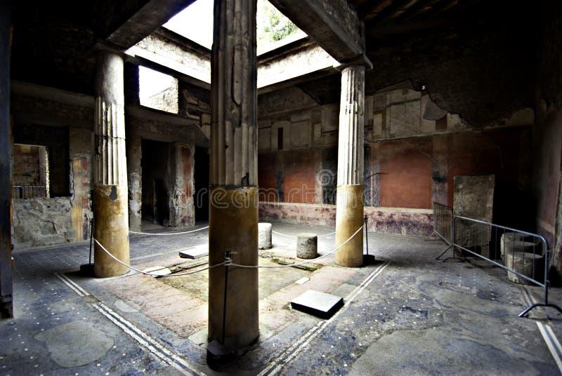 Van het Huisatriumpompeii van Pompei het Huisatrium stock foto