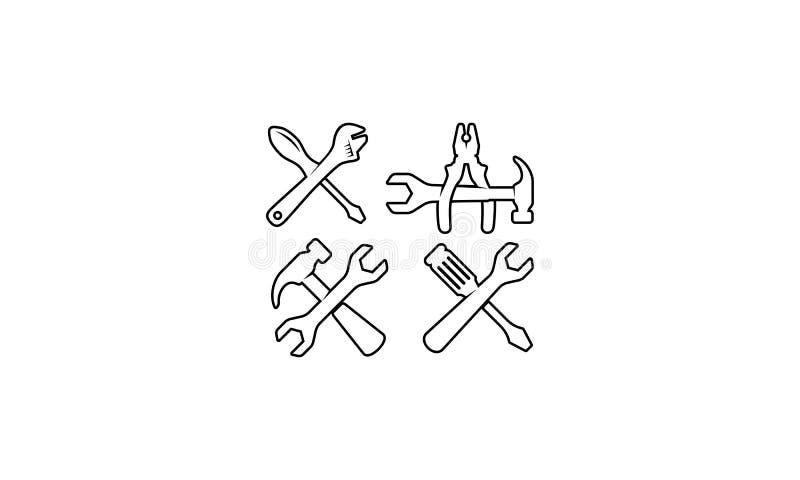 Van het het hulpmiddelembleem van de huisreparatie het pictogramvector royalty-vrije illustratie