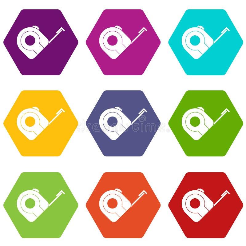 Download Van Het Het Hulpmiddelpictogram Van De Roulettebouw De Vastgestelde Kleur Hexahedron Vector Illustratie - Illustratie bestaande uit industry, techniek: 107708847