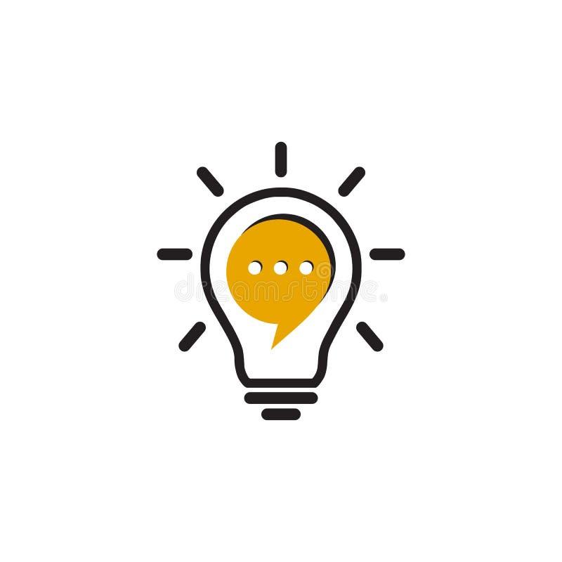 Van het het ideeontwerp van de bollamp de inspiratie vectormalplaatje vector illustratie