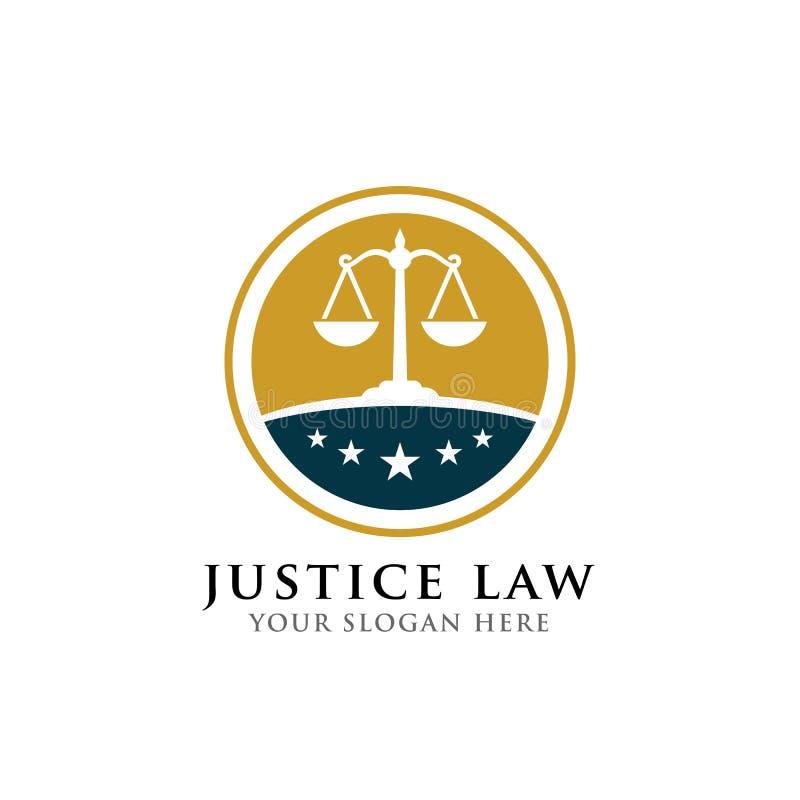 Van het het kentekenembleem van de rechtvaardigheidswet het ontwerpmalplaatje embleem van het vectorontwerp van het procureursemb royalty-vrije illustratie