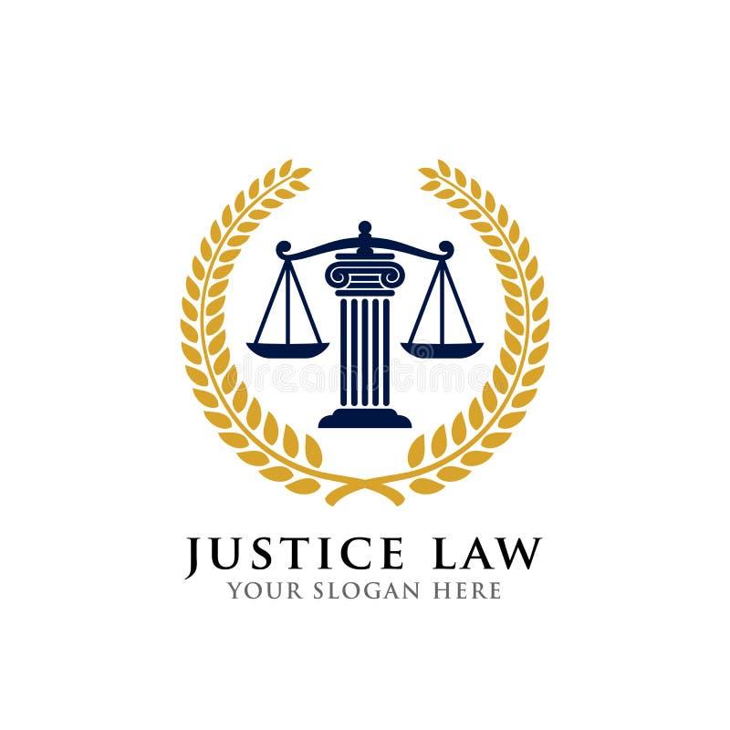 Van het het kentekenembleem van de rechtvaardigheidswet het ontwerpmalplaatje embleem van het vectorontwerp van het procureursemb stock illustratie