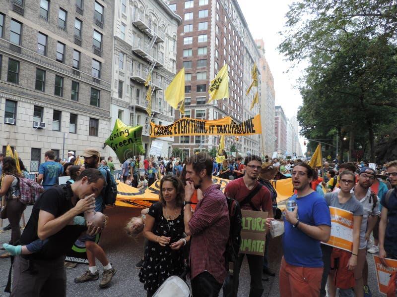 Van het Klimaatmaart New York van mensen de Stad 2014 stock fotografie