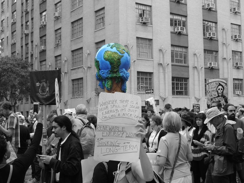 Van het Klimaatmaart New York van mensen de Stad 2014 stock foto's